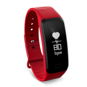RB1 Smartband Blood Pressure Heart Rate Monitor Pedometer Waterproof Watch - Red