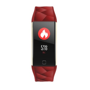 Color Screen Bluetooth Smart Watch Heart Rate Monitor Smart Band - Red