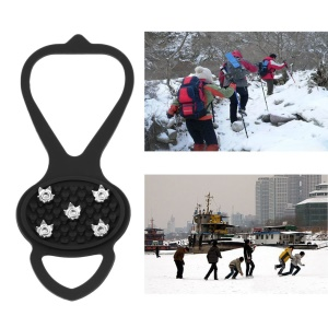 Ice Snow Ghat Non-Slip Walk Cleats Spikes Shoes Boots Grippers with Crampon