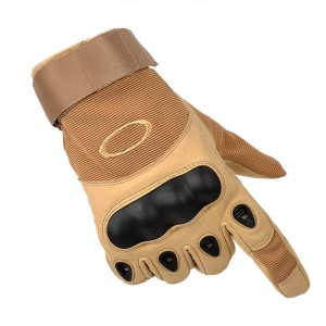 Full Finger Tactical Gloves Shock-absorption Cycling Gloves Military Gloves - Khaki