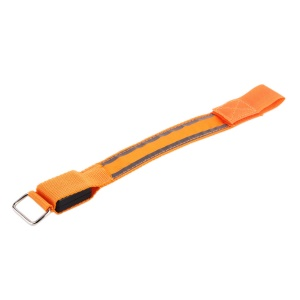 Sport Fahrrad LED Sicherheit Reflektierende Gurtbügel Snap Wrap Arm Band Glanz Armband - Orange