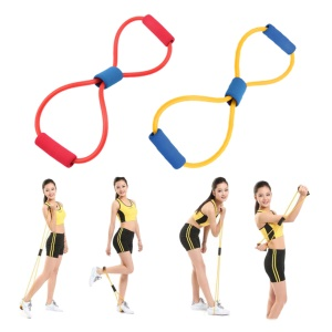 Widerstand Band Yoga Pilates ABS Übung Stretch Fitness Rohr Training Bands
