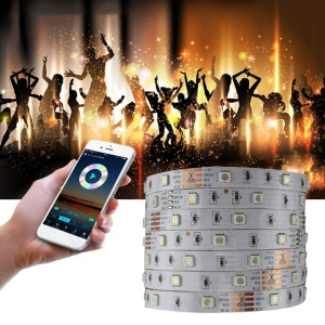16.4ft 30 LEDs/m Smart WiFi Remote Control RGB Colorful LED Strip Lamp Set - EU Plug