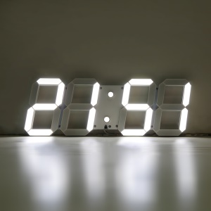 Large 3D Modern Digital LED Wall Clock 24/12 Hour Display Timer Home Alarm - US Plug