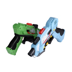 2Pcs Kids Laser Tag Toy Guns with Flash Light and Sounds