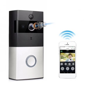 Smart WiFi Wireless Remote Doorbell 720P PIR Motion Detection & Alarm Function - UK Plug