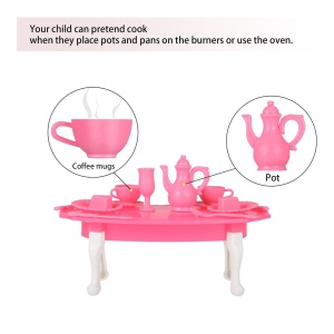 Kids Dish Tableware Playset Kitchen Play House Toy Early Education Toys