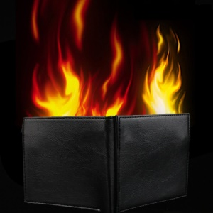 Magic Trick Flame Fire Wallet Magician Stage Street Show Magic Money Card Holder Wallet