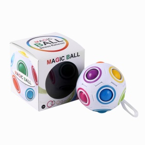 Stress Reliever Magic Rainbow Ball Toy Kids Educational Toys with Lanyard