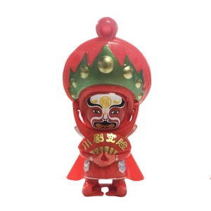 China Tradition Culture Sichuan Chinese Opera Face Changing Doll Figure Toy - Red