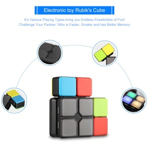 4 Game Modes Magic Cube Puzzle Toy with Light Electronic Education Toys