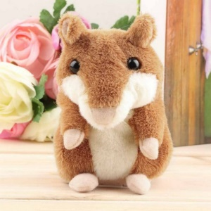 Lovely Talking Hamster Plush Toy Cute Speak Talking Sound Record Toy