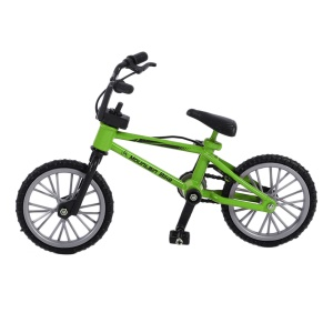 Simulation Mini Alloy Finger Bike Children Kid Funny Finger Bike Toy - Green