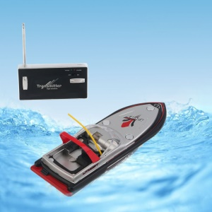 Portable Micro Radio RC Control Super High Speed Electric Racing Boat Toy