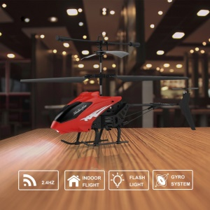 XY803 3.5CH Remote Control Helicopter Toy RC Gyro Aircraft Kids Toy - Red
