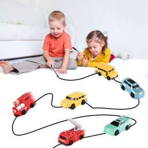 Enlighten Magic Pen Inductive Car Children's Train Tank Toy Car Draw Lines