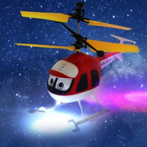 QX801 Induction RC Helicopter Cartoon Remote Control Drone Kid Plane Toy - Red
