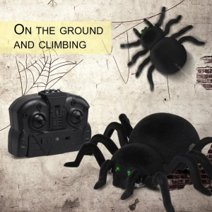 Wall Climbing Spider Infrared RC Simulation Furry Electronic Spider Great Gift
