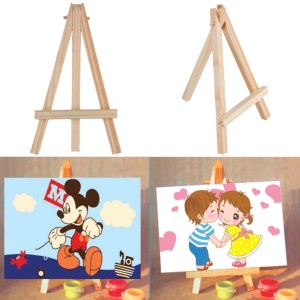Kids Mini Wooden Easel Artist Art Painting Stand Display Holder, Size: 15 x 8cm