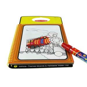 Children Environmentally Friendly Water Painting Coloring Graffiti Cards - Vehicle Patterns