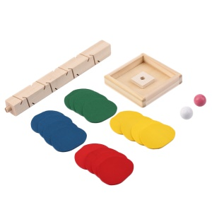 Unique Wood Tree Leaves Blocks Marble Ball Run Track Game Toy Educational Toy