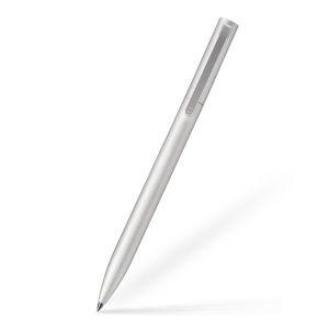 XIAOMI Mijia Retractable 0.5mm Metal Signing Pen with Switzerland MiKuni Refill - Silver