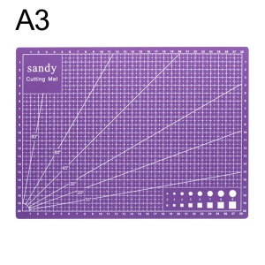 SANDY A3 Cutting Mat Cutting Underlay A3 Cutting Board Plate - Purple