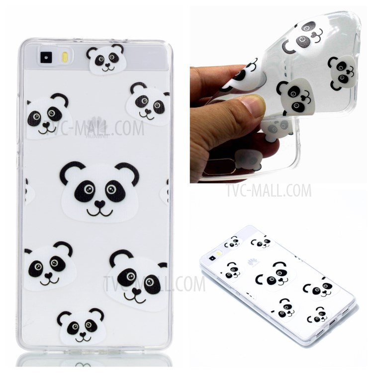 Pattern Printing TPU Shell for Huawei P8 Lite (2015) - Panda Pattern-1